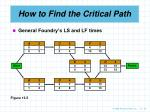 how to find the critical path25