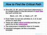 how to find the critical path26