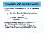 probability of project completion33