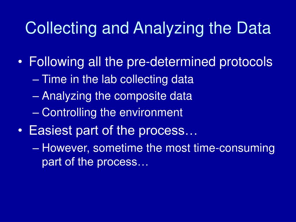 Collecting and Analyzing the Data