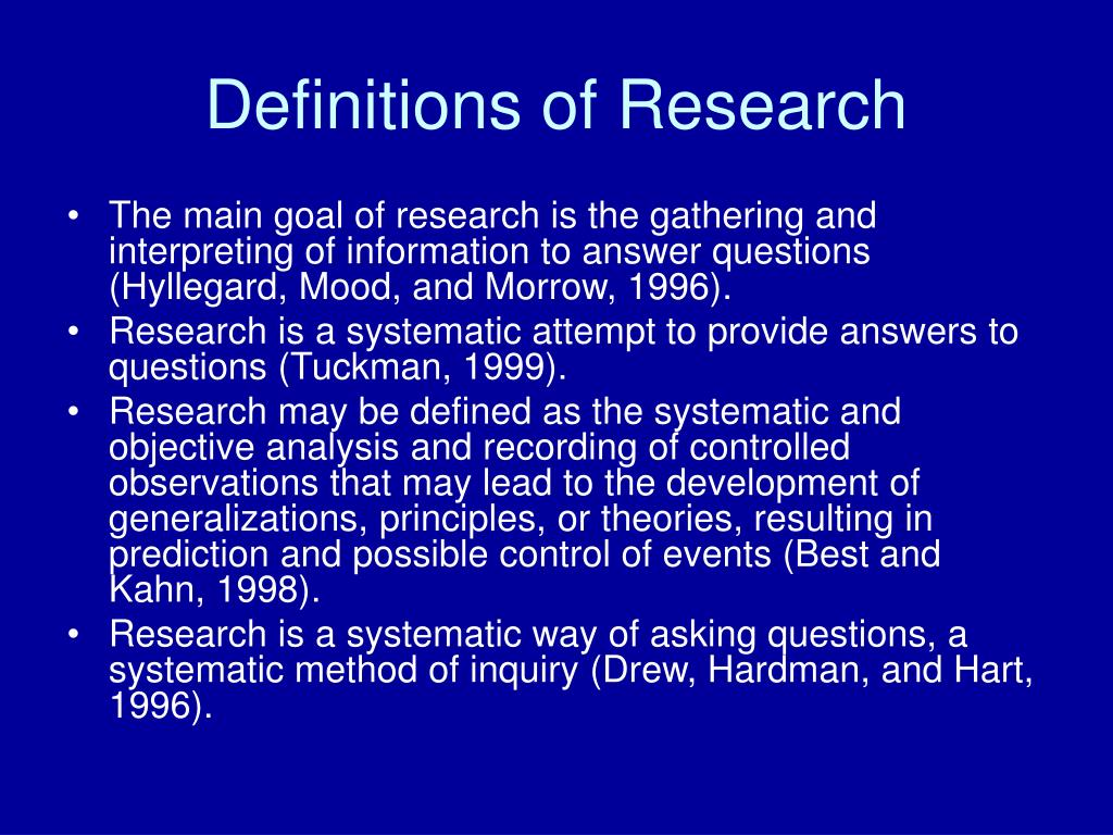 Definitions of Research