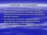 medidas propuestas