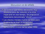 soluci n a la crisis