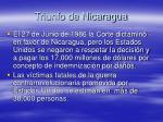 triunfo de nicaragua