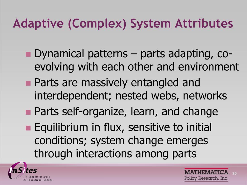 Adaptive (Complex) System Attributes