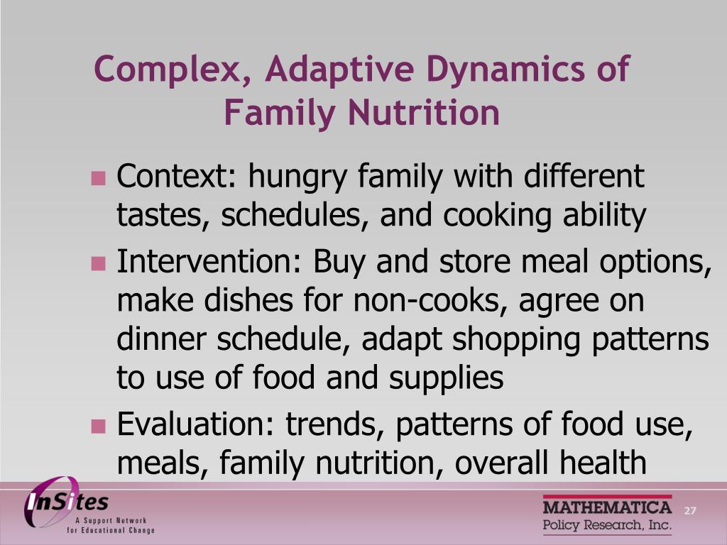 Complex, Adaptive Dynamics of