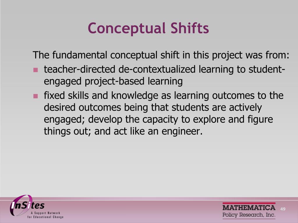 Conceptual Shifts