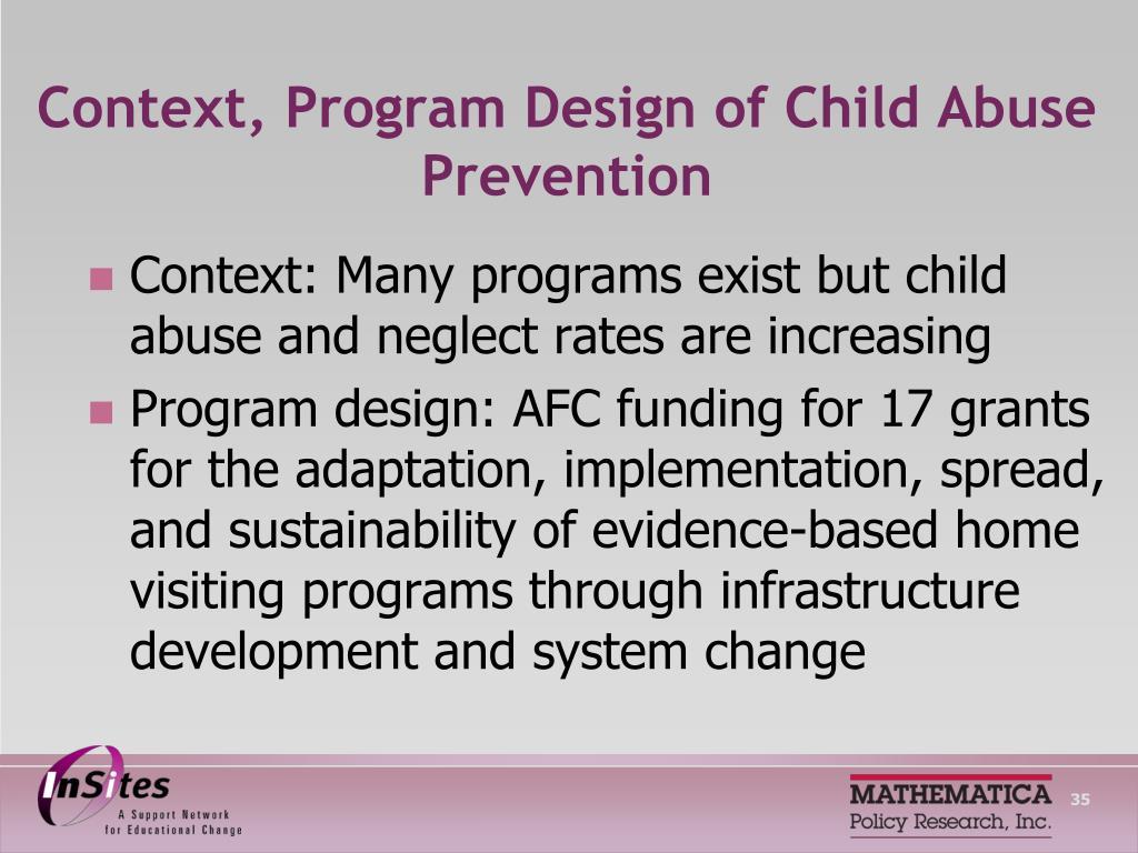 Context, Program Design of Child Abuse Prevention