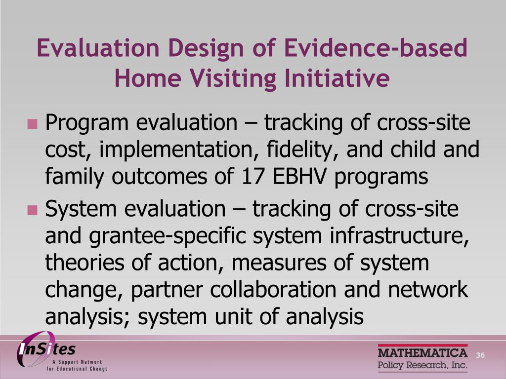 Evaluation Design of Evidence-based Home Visiting Initiative