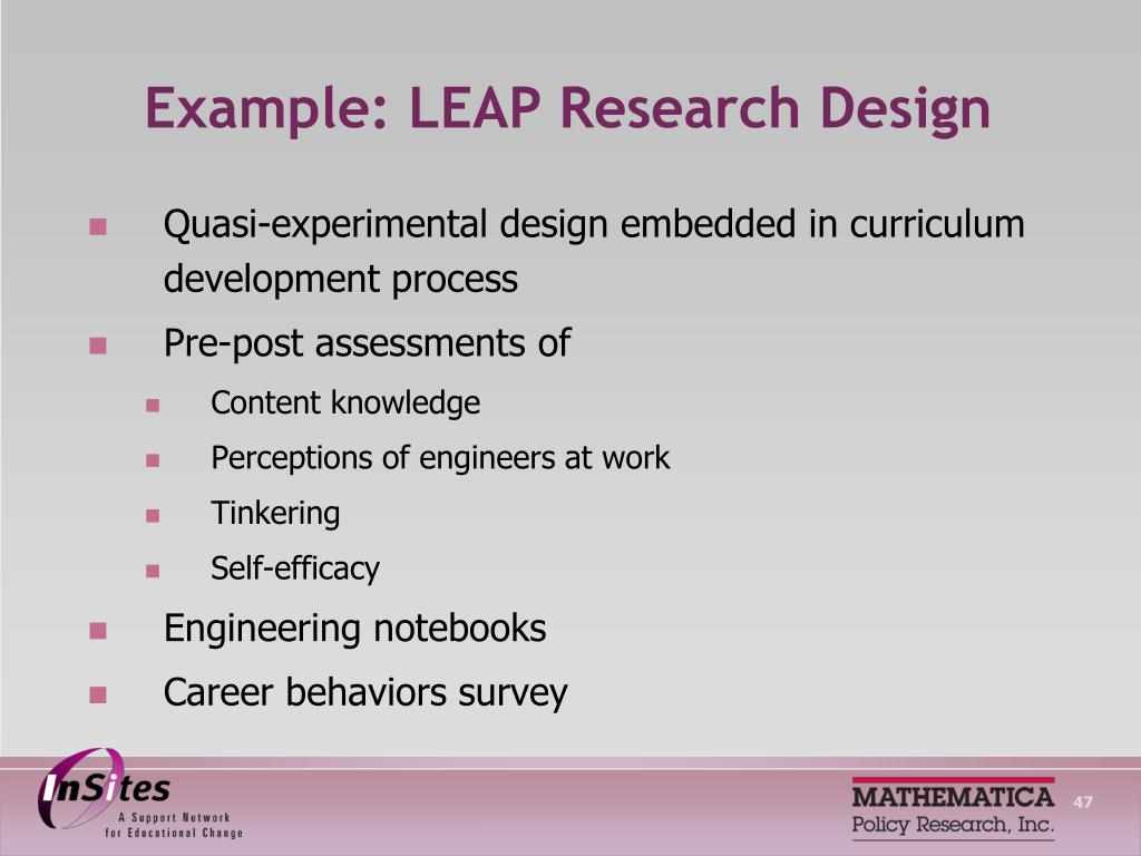 Example: LEAP Research Design