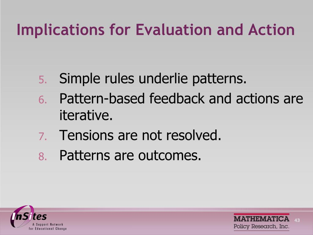 Implications for Evaluation and Action