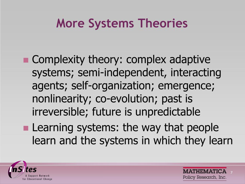 More Systems Theories