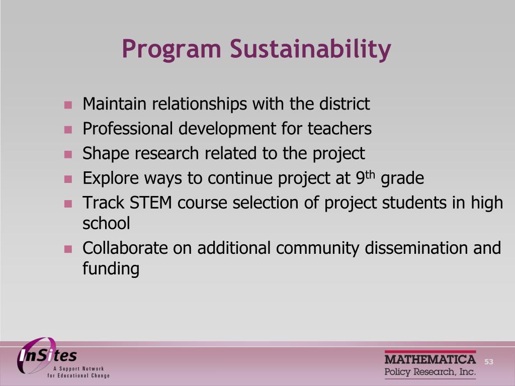 Program Sustainability