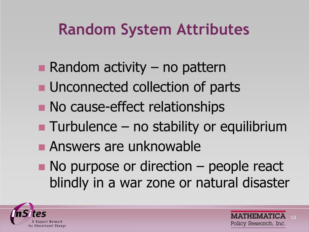 Random System Attributes