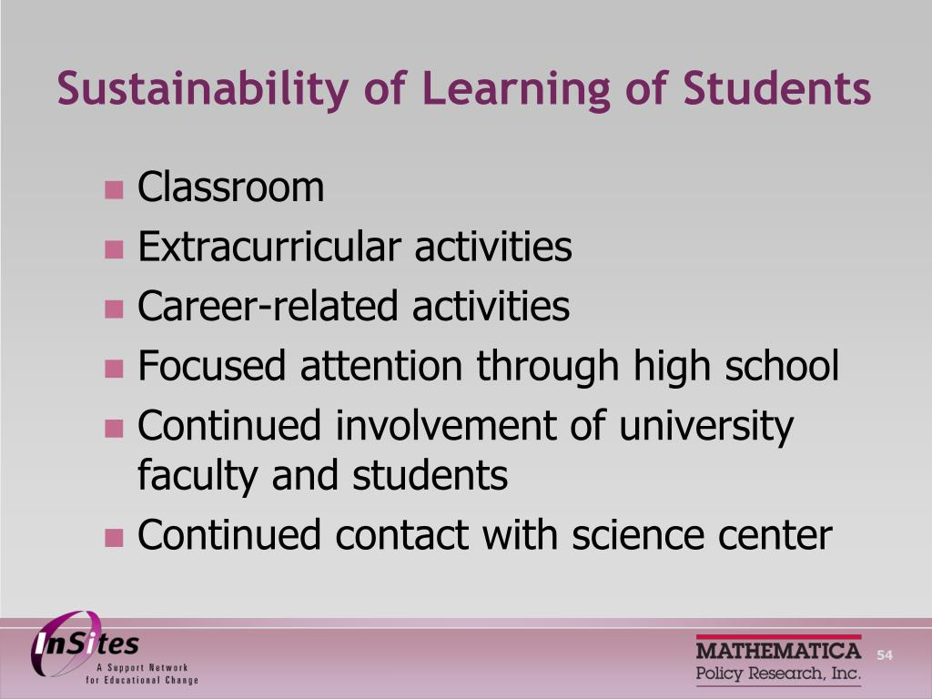 Sustainability of Learning of Students