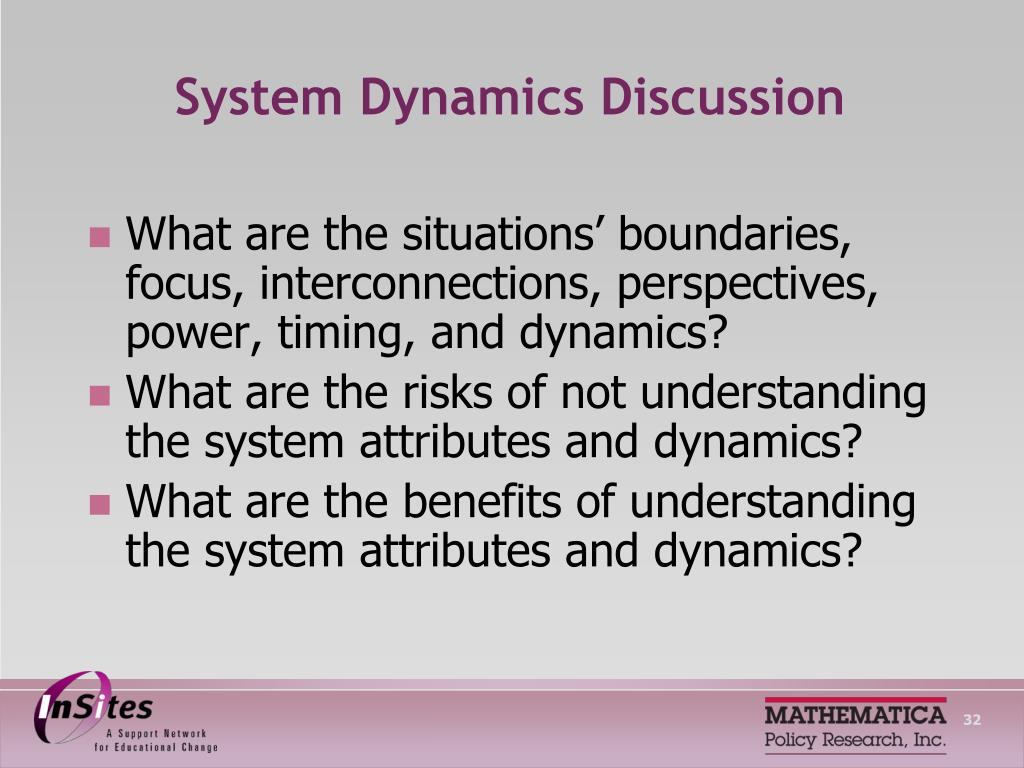 System Dynamics Discussion