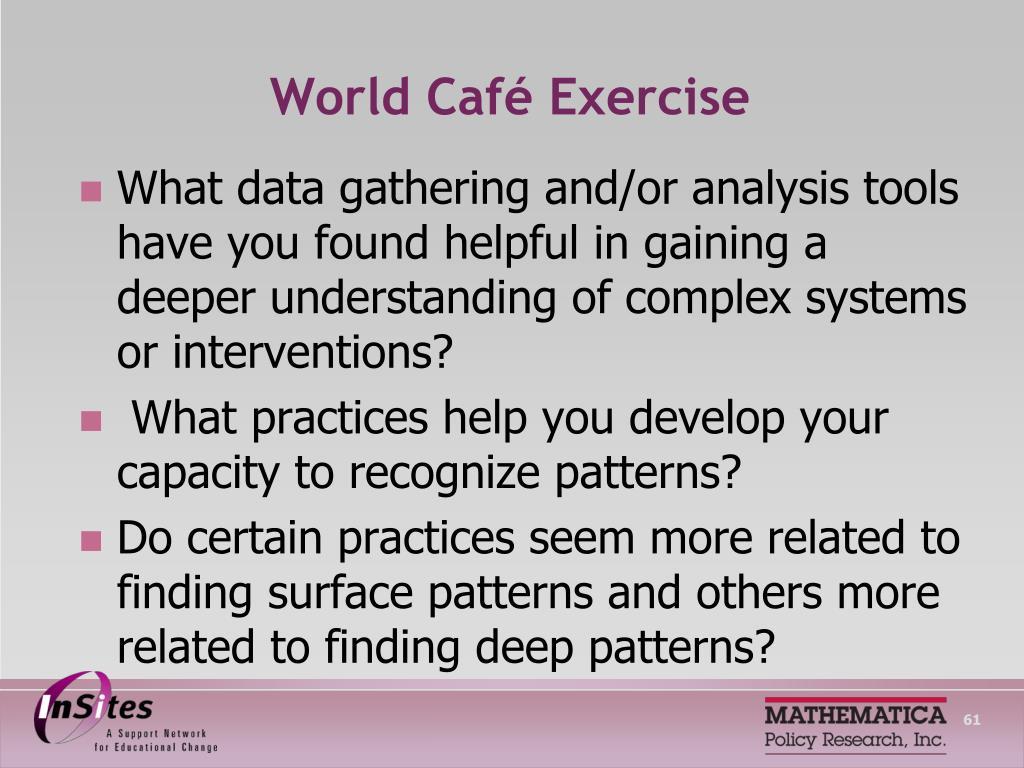 World Café Exercise