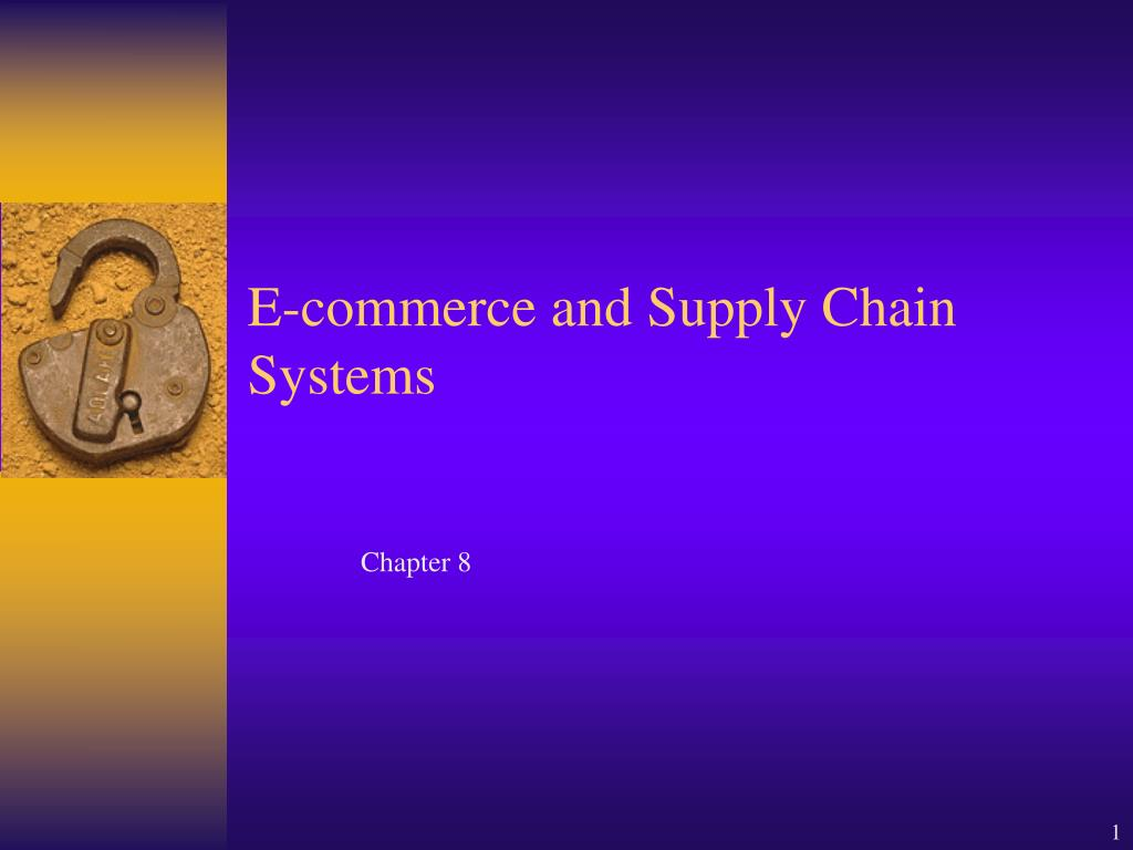 e commerce and supply chain systems l.