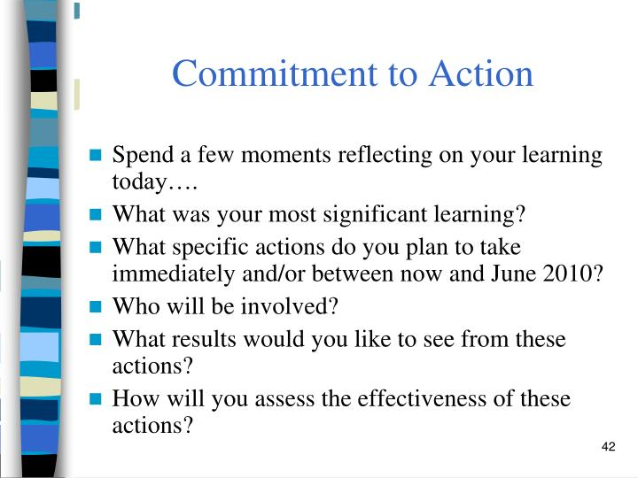 Commitment to Action