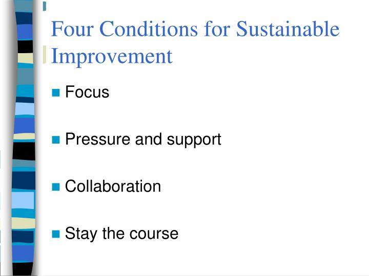 Four Conditions for Sustainable Improvement