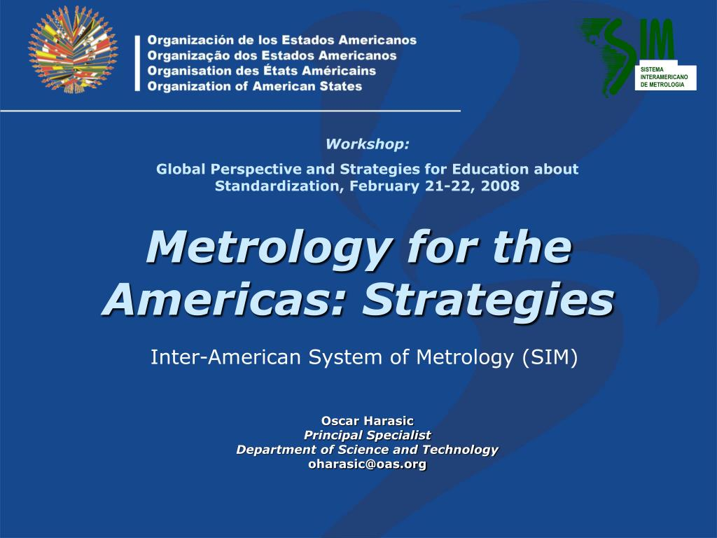 metrology for the americas strategies l.