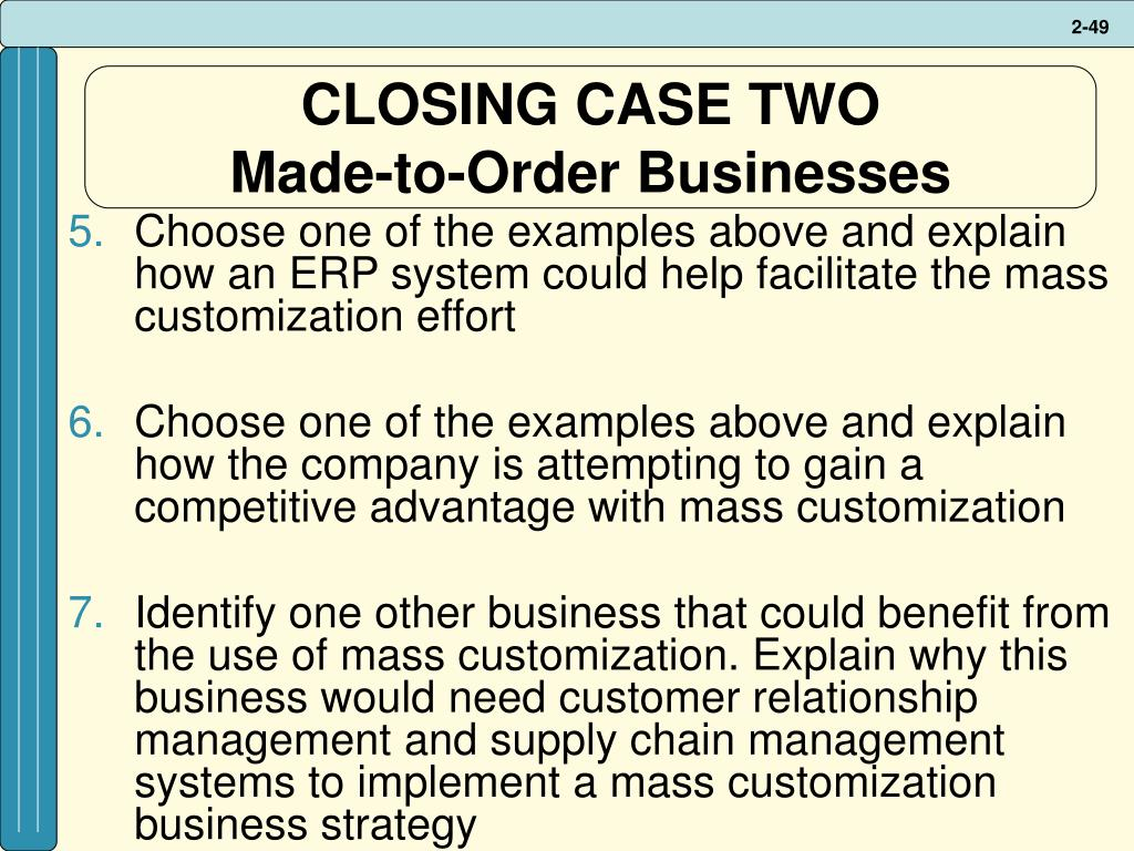 CLOSING CASE TWO