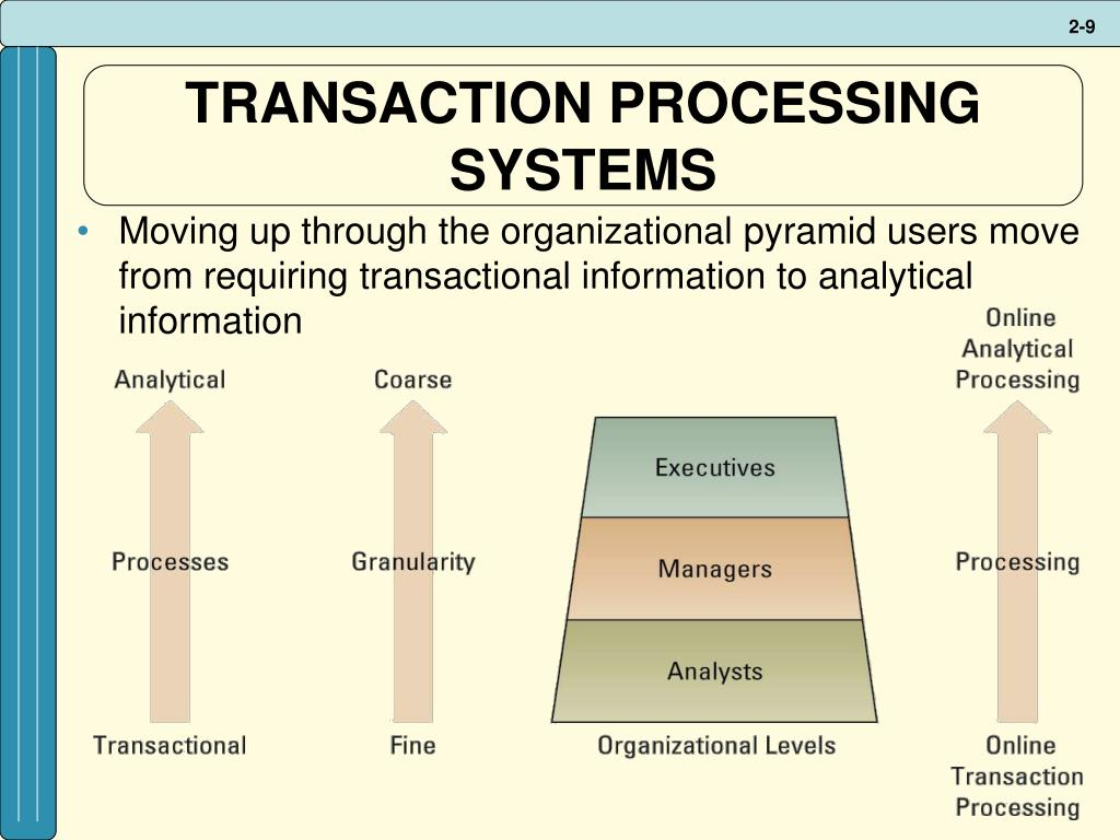 TRANSACTION PROCESSING SYSTEMS