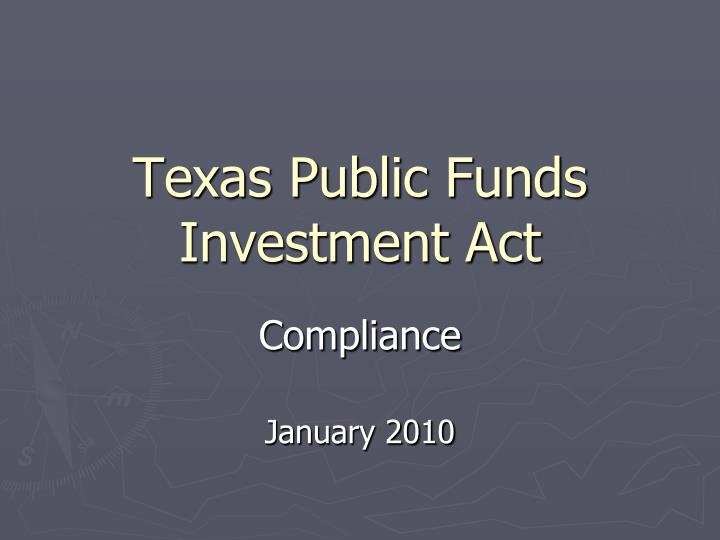 Texas public funds investment act