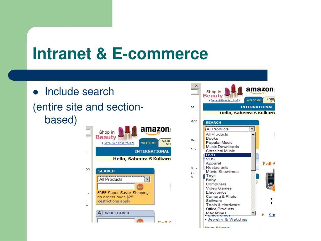 Intranet & E-commerce