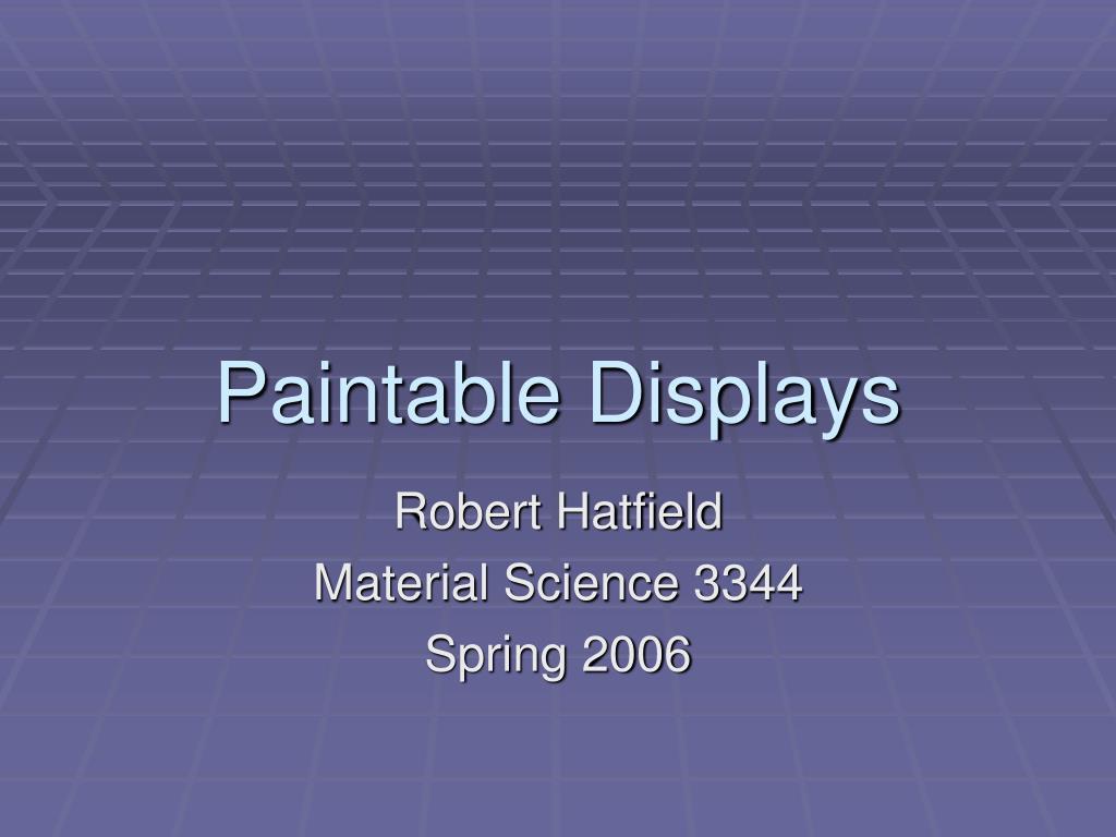 paintable displays l.