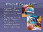 process to make a display