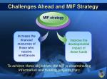 challenges ahead and mif strategy18