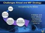 challenges ahead and mif strategy19