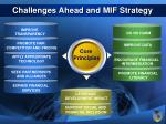 challenges ahead and mif strategy22