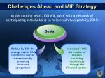 challenges ahead and mif strategy24