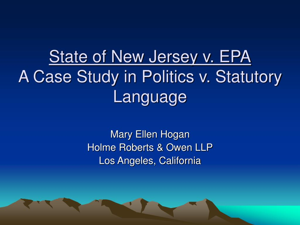 State of New Jersey v. EPA