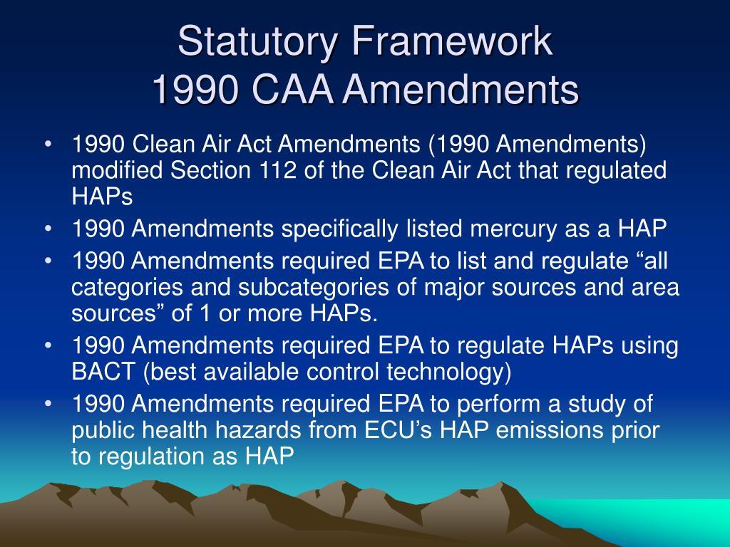 Statutory Framework