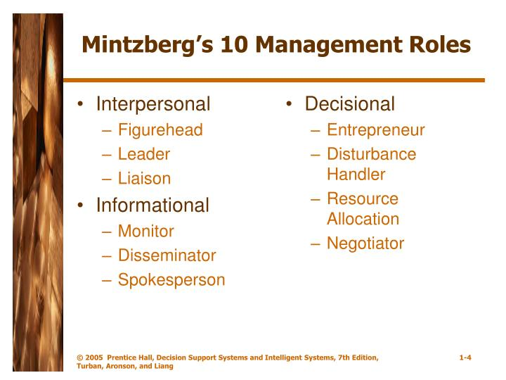 mintzberg s decisional roles Albertsuckowcom in his book, mintzberg divides managerial work into three categories: interpersonal roles, informational roles and decisional roles.