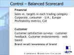 control balanced scorecard41