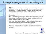strategic management of marketing mix32