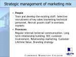 strategic management of marketing mix33