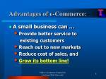 advantages of e commerce