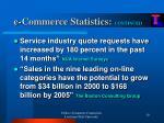 e commerce statistics continued