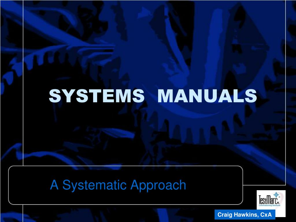 SYSTEMS  MANUALS