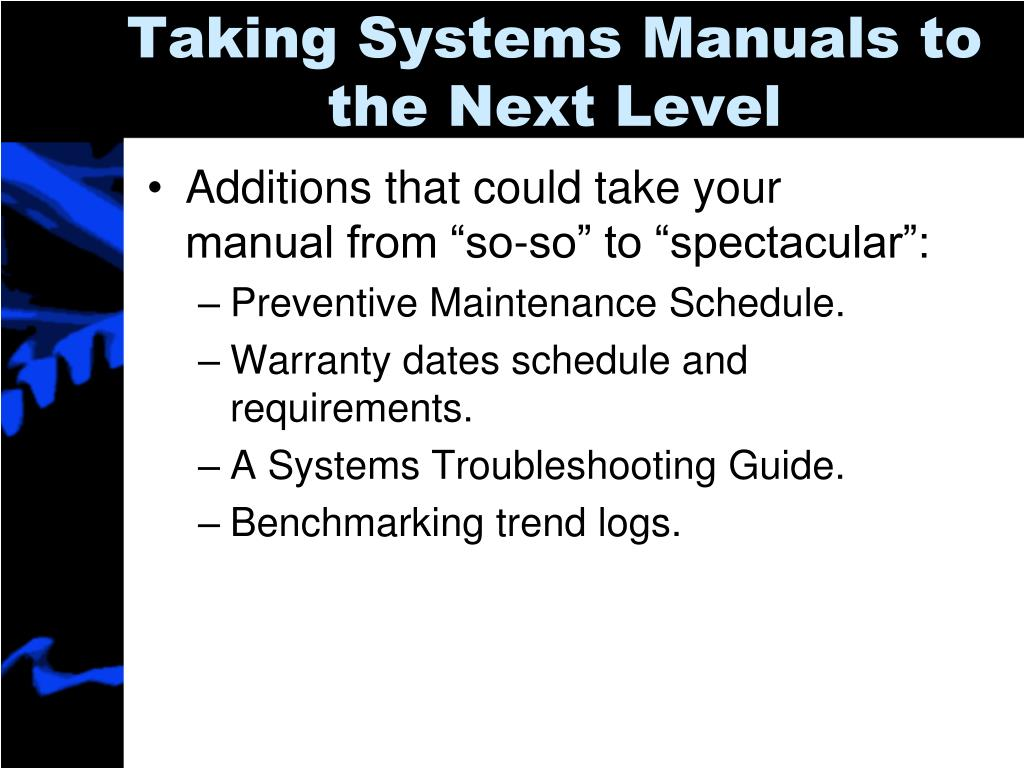 Taking Systems Manuals to the Next Level
