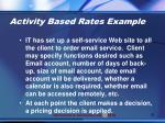 activity based rates example