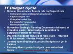 it budget cycle1