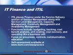 it finance and itil1