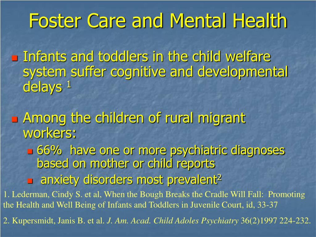 Foster Care and Mental Health