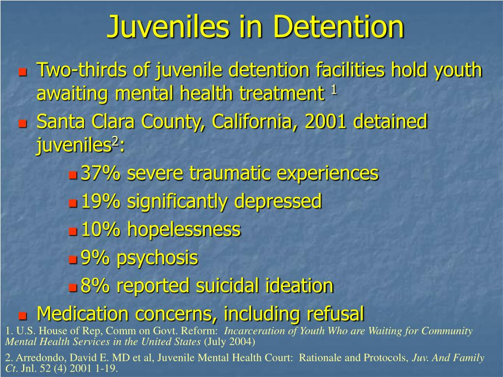 Juveniles in Detention
